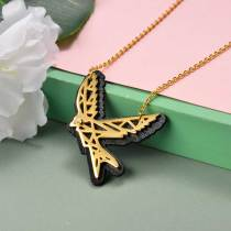 Collar de Acero Inoxidable para Mujer -SSNEG142-20967