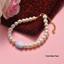 Pulsera de Acero Inoxidable en Moda para Mujer -SSBTG142-21010