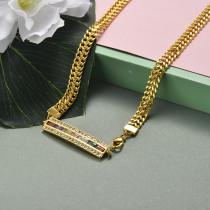 Collar de Acero Inoxidable para Mujer -SSNEG142-20946