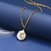Collar de Oro con Circones -SSNEG18-20835