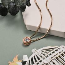Collar de Oro con Circones -BRNEG143-21068-R