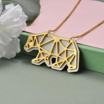 Collar de Acero Inoxidable para Mujer -SSNEG142-20957