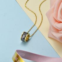 Collar de Acero Inoxidable para Mujer -SSNEG143-21069-G