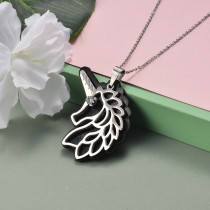 Collar de Acero Inoxidable para Mujer -SSNEG142-20955