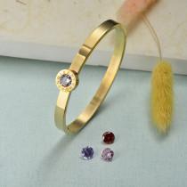 Collar de Acero Inoxidable para Mujer -SSBTG143-21934-G