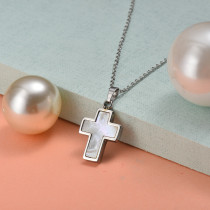 Collar de Acero Inoxidable para Mujer -SSNEG143-21905-S