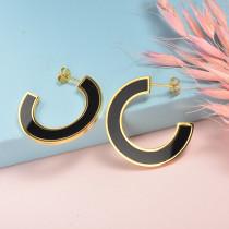 Aretes de Acero Inoxidable para Mujer -SSEGG143-21875