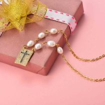 Collar de Perla Agua Dulce para Mujer -SSNEG142-20152