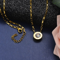 Collar de Acero Inoxidable para Mujer -SSNEG142-21610