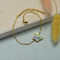 Collar de Acero Inoxidable para Mujer -SSBTG143-21927-G