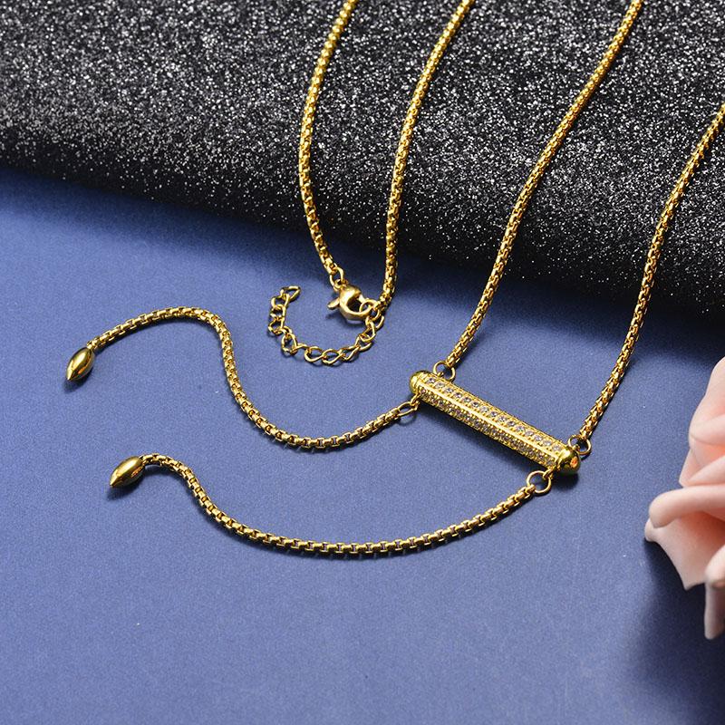 Collar de Bronce para Mujer -SSNEG142-21615