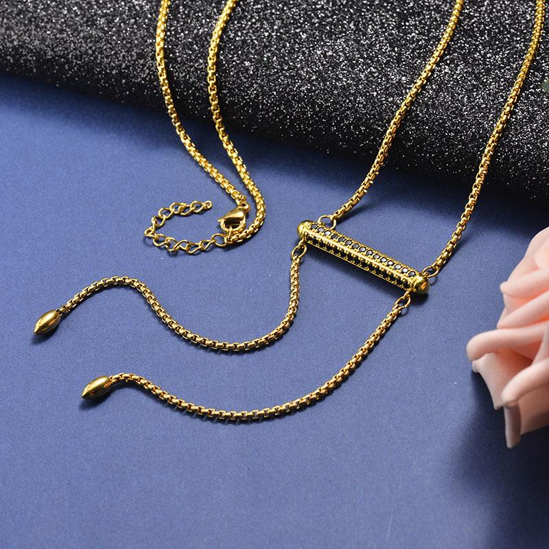 Collar de Bronce para Mujer -SSNEG142-21614
