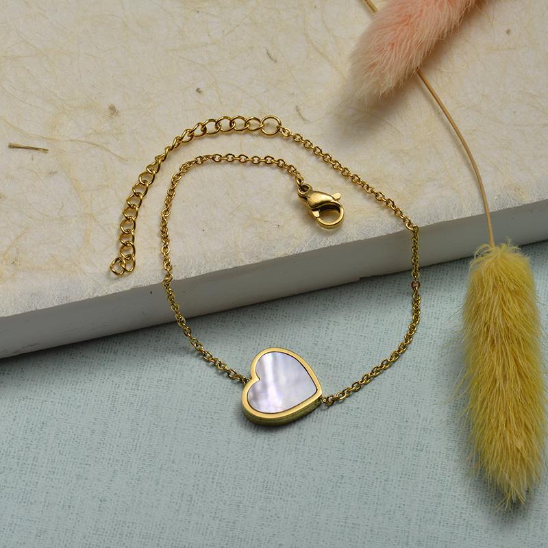 Collar de Acero Inoxidable para Mujer -SSBTG143-21923-G
