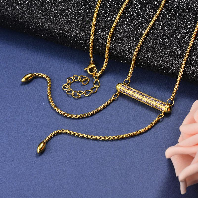 Collar de Bronce para Mujer -SSNEG142-21613