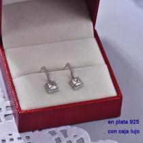 Aretes de Plata 925 con Circones para Mujer -PLEGG190-22418