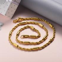 Collar de Acero Inoxidable para Mujer -SSNEG142-22042