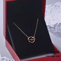 Collar de Plata 925 con Circones para Mujer -PLNEG190-22405