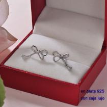Aretes de Plata 925 con Circones para Mujer -PLEGG190-22365