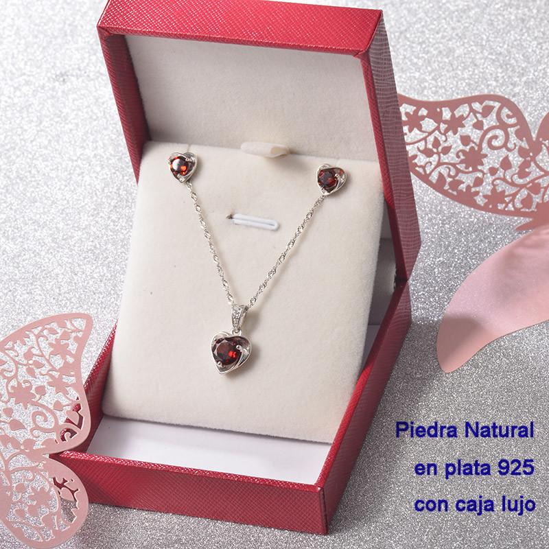 Conjunto de Plata 925 con Perla Natural Granate para Mujer -PLCSG192-22248