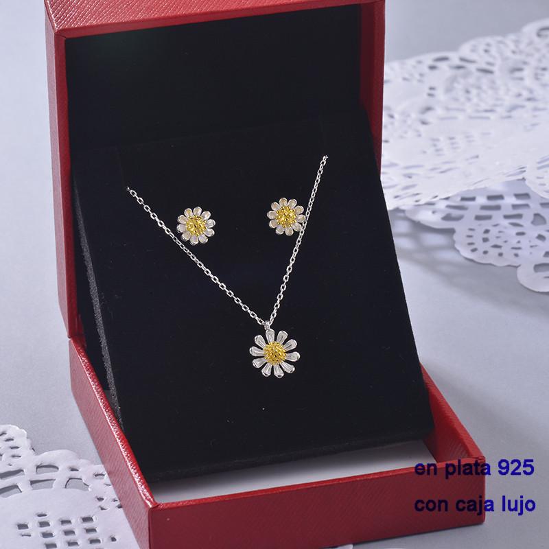 Cojunto de Plata 925 con Circones para Mujer -PLCSG190-22396