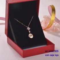 Collar de Plata 925 con Circones para Mujer -PLNEG189-22305