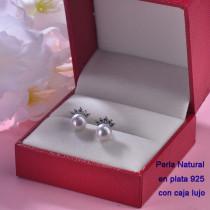 Aretes de Plata 925 con Perla Natural Agual Dulce para Mujer -PLEGG191-22210