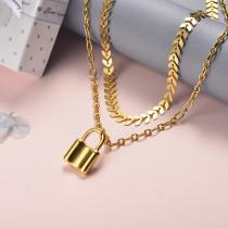 Collar de Acero Inoxidable para Mujer -SSNEG142-22040