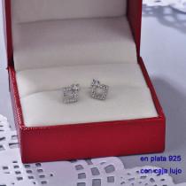 Aretes de Plata 925 con Circones para Mujer -PLEGG190-22424