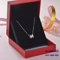 Collar de Plata 925 con Circones para Mujer -PLNEG189-22304