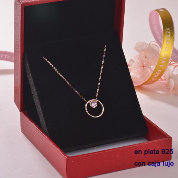 Collar de Plata 925 con Circones para Mujer -PLNEG189-22312