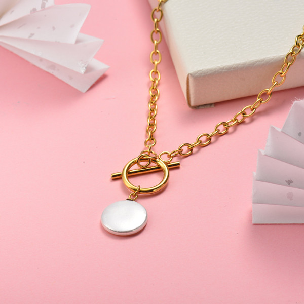 Collar de Acero Inoxidable para Mujer -SSNEG142-22052