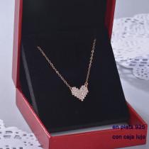 Collar de Plata 925 con Circones para Mujer -PLNEG190-22404
