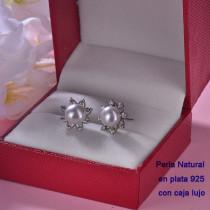 Aretes de Plata 925 con Perla Natural Agual Dulce para Mujer -PLEGG191-22211