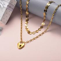 Collar de Acero Inoxidable para Mujer -SSNEG142-22044