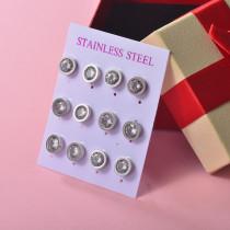 Sets de Aretes en Acero Inoxidable para mujer -SSEGG126-22101