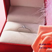 Anillos de Plata 925 con Circones para Mujer -PLRGG190-22290