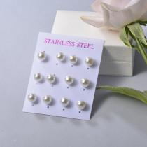 Sets de Aretes en Acero Inoxidable para mujer -SSEGG126-22098