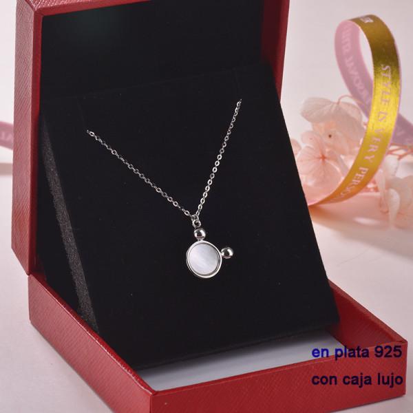 Collar de Plata 925 con Circones para Mujer -PLNEG189-22316