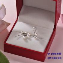 Aretes de Plata 925 con Circones para Mujer -PLEGG190-22363