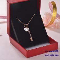 Collar de Plata 925 con Circones para Mujer -PLNEG189-22307