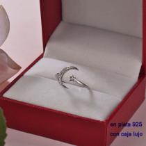 Anillos de Plata 925 con Circones para Mujer -PLRGG190-22373