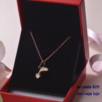 Collar de Plata 925 con Circones para Mujer -PLNEG190-22353