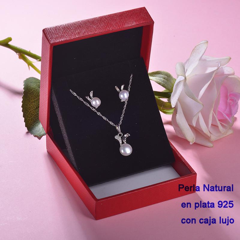 Conjunto de Plata 925 con Perla Natural Agual Dulce para Mujer -PLCSG191-22243