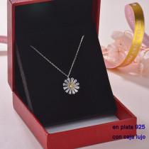Collar de Plata 925 con Circones para Mujer -PLNEG189-22314