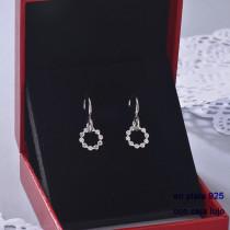 Aretes de Plata 925 con Circones para Mujer -PLEGG190-22403
