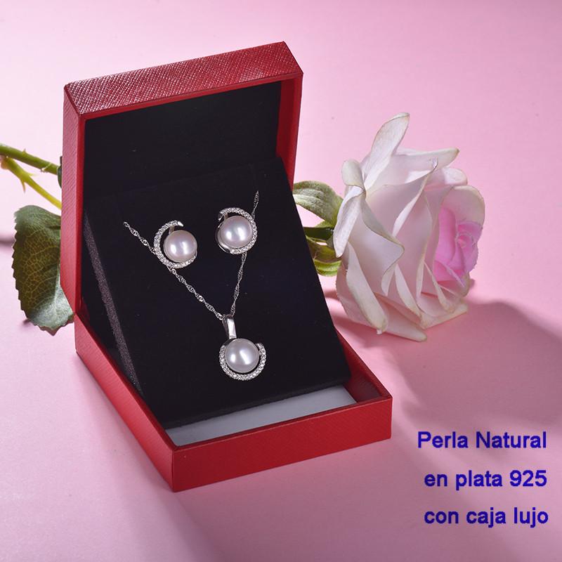 Conjunto de Plata 925 con Perla Natural Agual Dulce para Mujer -PLCSG191-22244