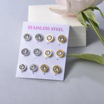Sets de Aretes en Acero Inoxidable para mujer -SSEGG126-22093