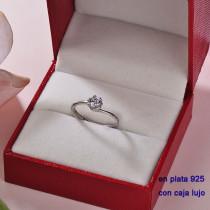 Anillos de Plata 925 con Circones para Mujer -PLRGG190-22357