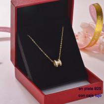 Collar de Plata 925 con Circones para Mujer -PLNEG189-22303