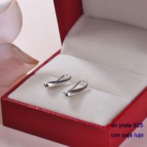 Aretes de Plata 925 con Circones para Mujer -PLEGG190-22364